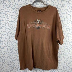 Harley-Davidson Brown 2008 Fort Wayne IN Tshirt 2X